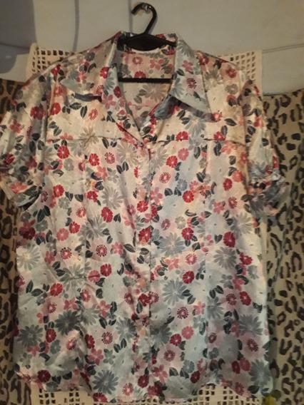 Camisa De Seda Elastizada