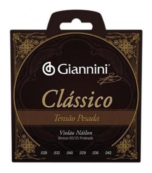 Encordoamento Giannini Acústico Pesado Nylon Violão 7 Cordas