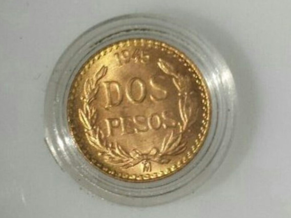 Moneda De 2 Pesos De Oro De 1945