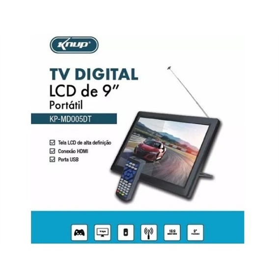 Tv Portatil Digital Hdmi E Conversor Controle Usb Led Top