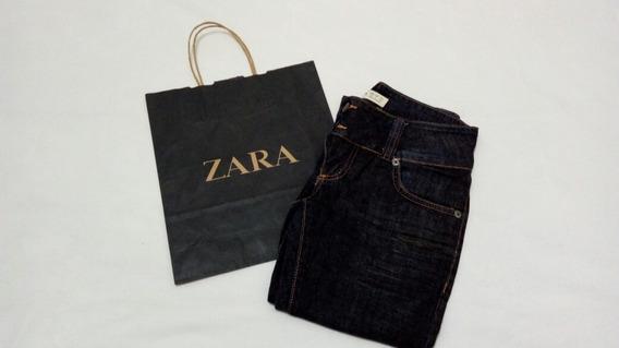 Calça Jeans Trf Zara Tamanho 38 Strecht Otimo Estado Sacola