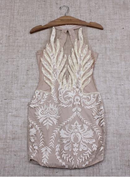 Vestido Creme /dourado Mondabelle 2020