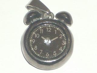 Dije Colgante Reloj Despetador Miniatura Y Strass Cºreloj459