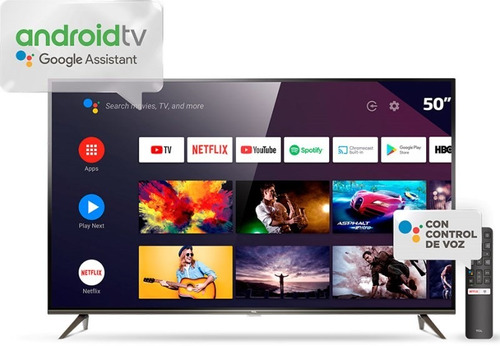 Smart Tv 50  4k Ultra Hd L50p8m Con Android Tcl