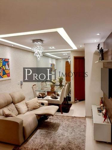 Imagem 1 de 14 de Apartamento Para Venda Em Santo André, Campestre, 2 Dormitórios, 1 Banheiro, 1 Vaga - Aplinat
