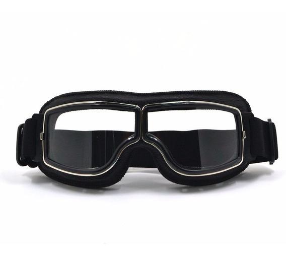 Óculos Moto Vintage Excelente Visibilidade - Aviador