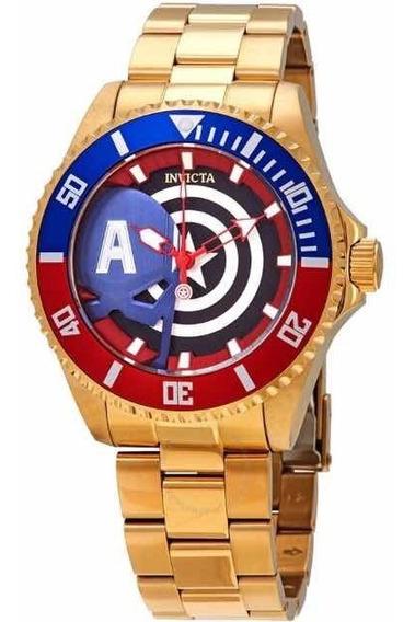 Relógio Invicta Marvel Capitão América 100% Original