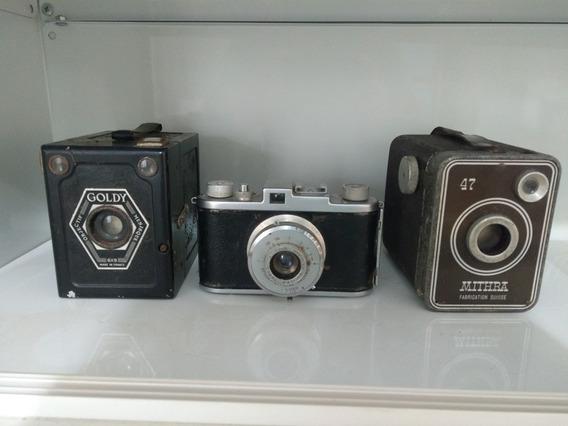 Lote 3 Câmeras Fotográficas Antigas