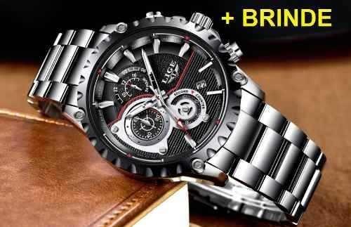 Relógio Original Esportes Lige +brinde-frete Grátis-promoção