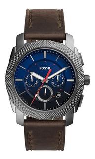 Reloj Fossil Fs5388 Negro Con Pulso En Cuero Original