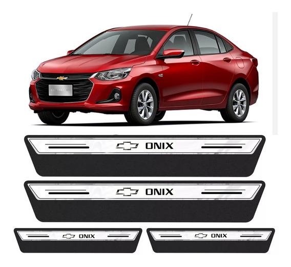 Soleira Protetor Porta Platinum Novo Onix 2020 Plus Premier