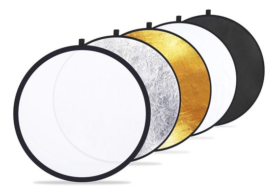 Rebatedor Circular 5 Em 1 Difusor E Refletor 110cm Com Case