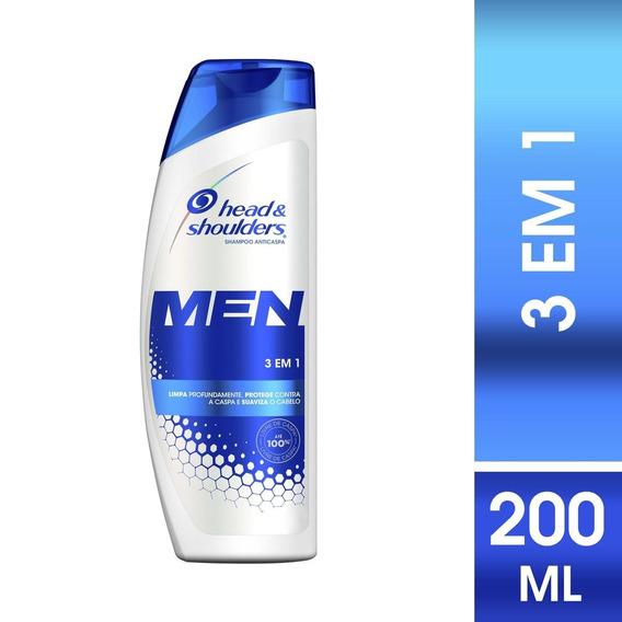 Shampoo Head & Shoulders Anticaspa 3 Em 1 Masculino 200 Ml