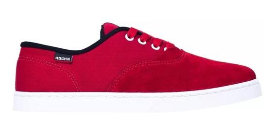 Tênis Hocks Skate Sonora Vermelho Branco Red White