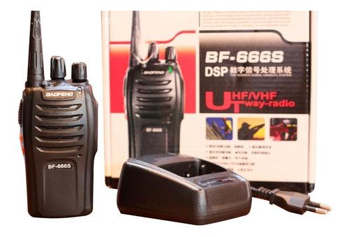 Radio Comunicaciones Baofeng X 2 Bf 666s Negro 3km Boquitoki