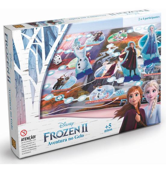 Jogo De Tabuleiro - Aventura No Gelo - Disney - Frozen 2 - G