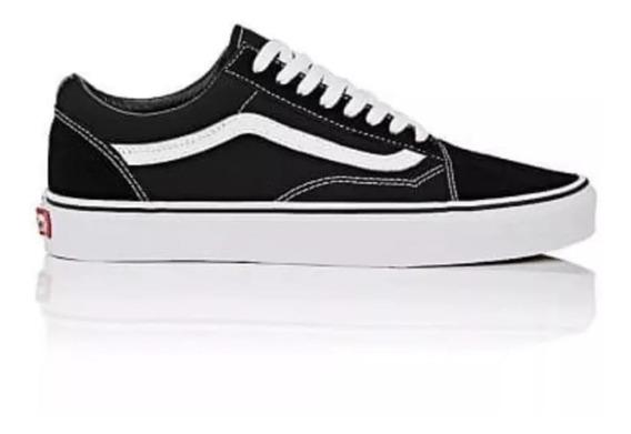 Zapatillas Vans Negro Con Blanco