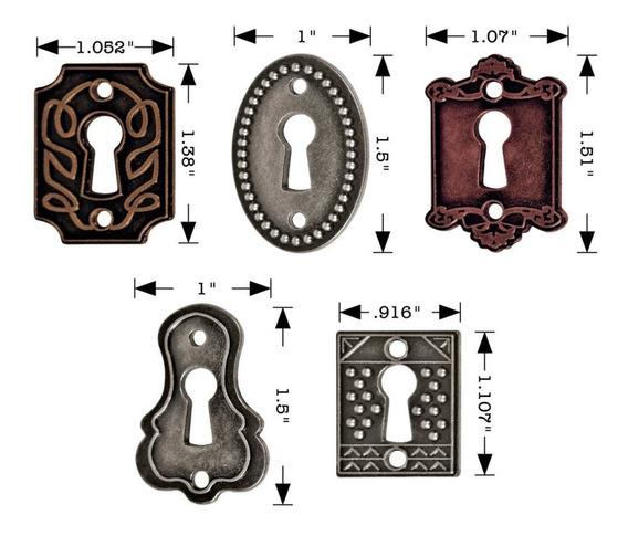 Cerraduras Metálicas Antique Nickel, Brass & Copper X 5 Unid