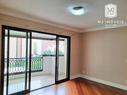 Apartamento Com 3 Dormitórios Para Alugar, 116 M² Por R$ 6.900/mês - Moema - São Paulo/sp - Ap0473