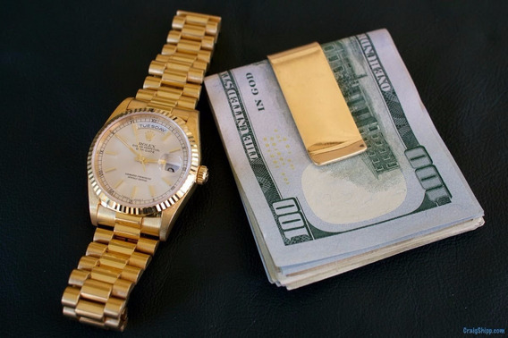 Money Clip Slim Billetera Cartera Dinero Elegancia Tarjetero