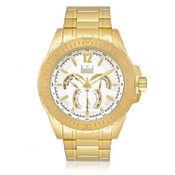 Relógio Dumont Analógico Masculino Dourado Du6p29abt4k