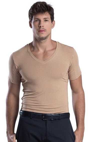 Kit Com 3 Camisetas Undershirt Anti Suor/ Odor Invisível