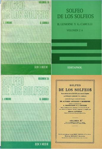 Solfeo De Los Solfeos 1a, 2a, 3a 4a