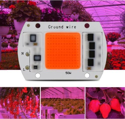 Chip Led 50w 220v Fullspectrum Indoor Cultivo Grow