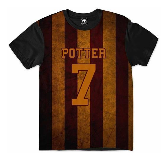 Camiseta Harry Potter Quadribol 7 Grifinória Hogwarts