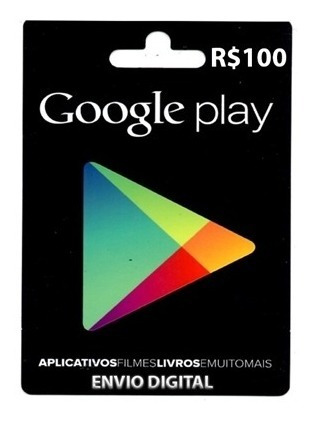 Google Play Gift Card R$ 100 Reais Brasil Br Android