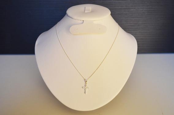 5 Collares De Plata Con Dije De Cruz En Cristal Swarovski