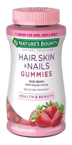 Hair Skin Nails Gummies Natures Bounty 220 Pc Gomitas