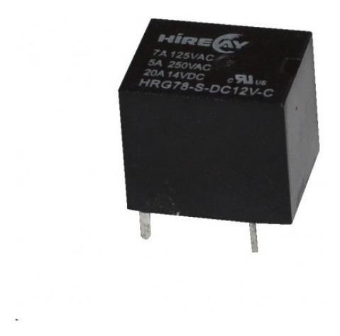 Imagen 1 de 4 de Mini Rele Relay 12v 5a 1 Inversor 250v Hrg78