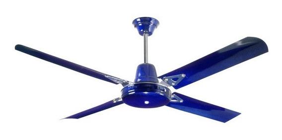 Ventilador De Techo Azul Laca Metálico Sese - Elect. Avella.