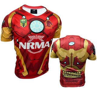 Camiseta Rugby Iron Man Entrenamiento Juego Lions Xv