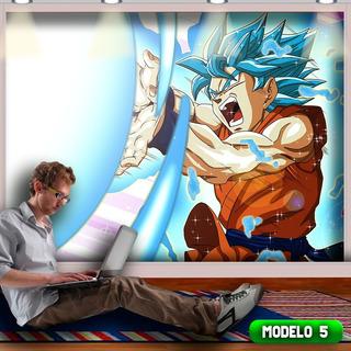 Super Papel De Parede + Frete Dragon Ball Z 3x2.80mt Lindo