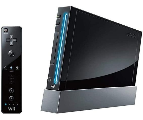Nintendo Wii Black + Remote + Nunchuck + Jogos+ Brindes.