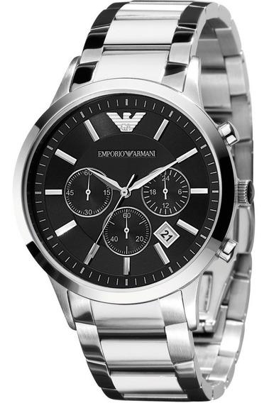 Relógio Emporio Armani Ar2434 Dial Preto