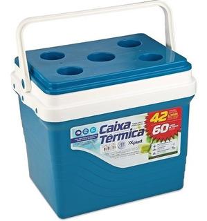 Caixa Térmica Bedidas 42 L Azul/ Cores Cooler Xplast