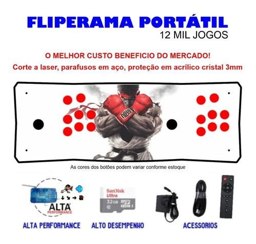 Fliperama Portátil Slim 3 Em 1 - Ryu Sfv