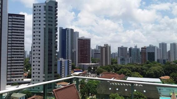 Apartamento Cobertura Com 4 Dormitórios À Venda, 320 M² Por R$ 850.000 - Tamarineira - Recife/pe - Carlos (81) 98666-6050 - At0002