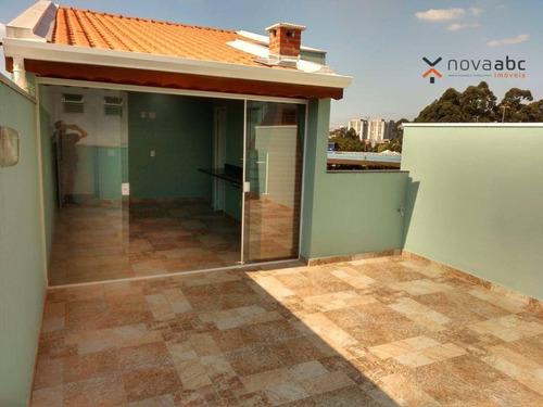 Cobertura Com 2 Dormitórios Para Alugar, 45 M² Por R$ 2.225,00/mês - Vila Metalúrgica - Santo André/sp - Co1158