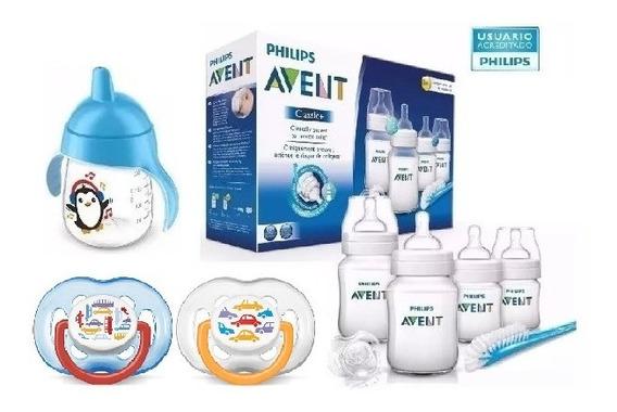 Set Recien Nacido Avent Classic ® Chupetes Vaso Varon Cod618