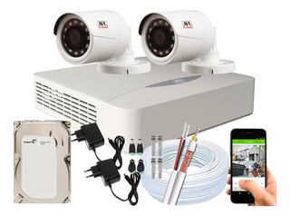 Kit Cftv 2 Câmeras Jfl Chd-2230p Full Hd 1080p 2mp Dvr 04 Ch