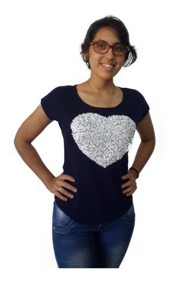 Franela Blusa Unicolor Jersey Dama Manga Corta