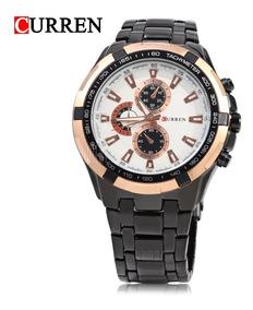 Relógio Curren Masculino Original Pulseira Aço Luxo Barato