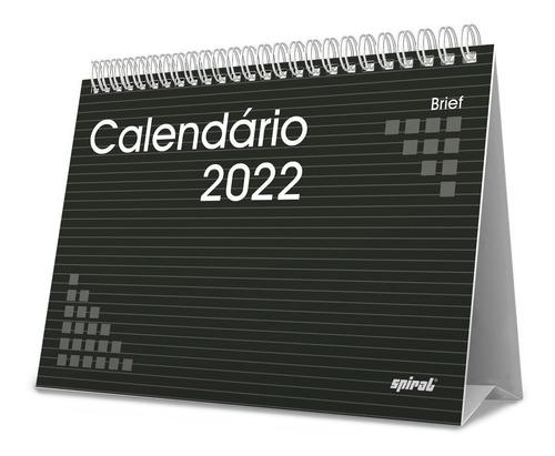 Calendario De Mesa 2022 Escritorio Preto Pronta Entrega