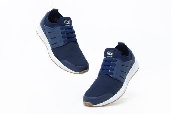 Zapatos Comodos Caballero Flexi 97405 Azul 100% Originales