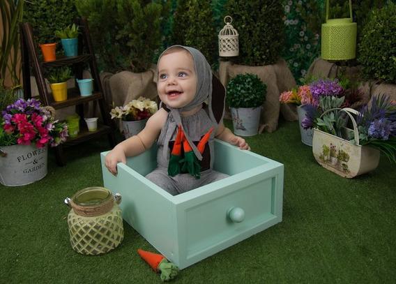 Gaveta Verde Prop Cenário Foto Newborn Acompanhamento Bebê