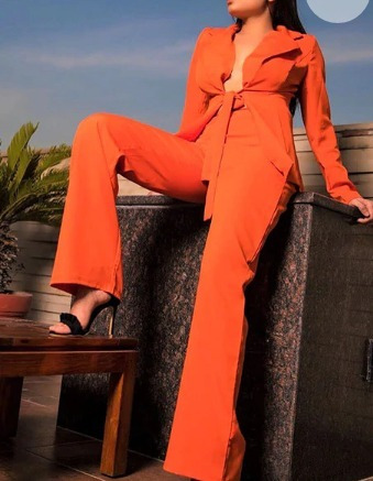 Pantalón Y Saco Naranja